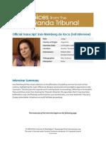Entrevista Inés Weinberg de Roca