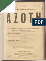 Azoth, April 1918