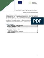 ANTECEDENTES DEL MANEJO Y GESTIÓN DE RESIDUOS EN CHILE