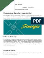 Sinergia Recursividad Con Ejemplos - Teoría General de Sistemas