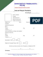 Modelo de Ficha de Filiação