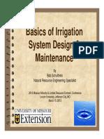 Basics of Irrigation System Design and Maintenance 2013