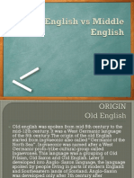 Old English vs Middle English