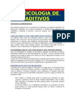 Toxicologia de aditivos