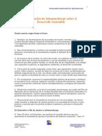 Declaración de Johannesburgo para el Desarrollo Sostenible