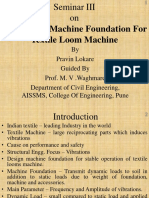 Analysis of Machine Foundation for Textile Loom Machine.lokare, Waghmare