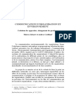 Communication d'Organisation Et Environnement