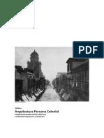 Silabo Arquitectura Peruana Colonial 2017 1