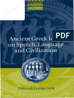 Gera Deborah 2003 Ancient Greek Ideas on Speech Language Civilization