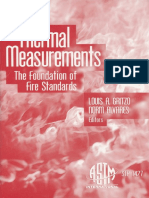 Thermal Measurements the Foundation of Fire Standards, ASTM, 2003