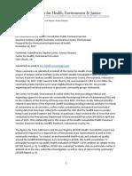CHEJ Comments ATSDR Health Consultation Keystone Sanitary Landfill