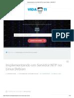 Implementando Um Servidor NTP No Linux Debian