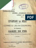 Corneliu Zelea Codreanu - Cuvantare la mesaj - 1932