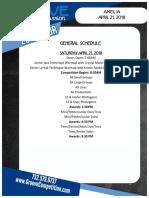 2018 ames ia early regional general schedule