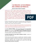 Activando El Principio- Ley de Ofrenda Voluntaria, Entrega de Primicias.