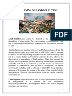 Meaning of Land Pollution