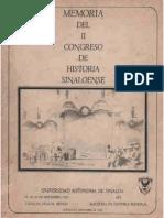 Memoria del II Congreso de Historia Sinaloense, 1985 - Universidad Autónoma de Sinaloa.pdf