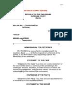 Memorandum for Petitioner