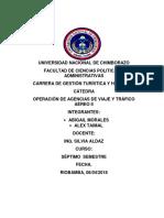 Tarea 2 Aeropuertos y Atractivos Del Ecuador