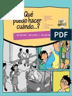 Historieta Proyecto Cerros Seguros Prevencion