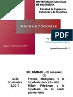 Clase 23 Nov 9 Consumo Modigliani y Friedman