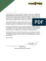Carta de Presentacion TOYOTA