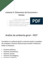 Palestra 4 Elementos e Economia e Gestao