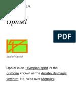Ophiel - Wikipedia