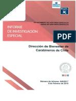 Informe Final de Investigacion Especial 540-17 Direccion de Bienestar de Carabineros de Chile Sobre Adminsitracion de Recursos Financieros - Febrero 2018