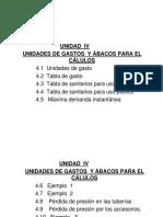 Unidad IV- Gastos y Ábacos Para El Cálculo