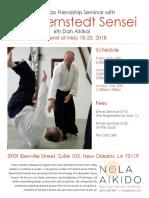 Lars Stjernstedt Sensei at NOLA Aikido May 2018 Flyer
