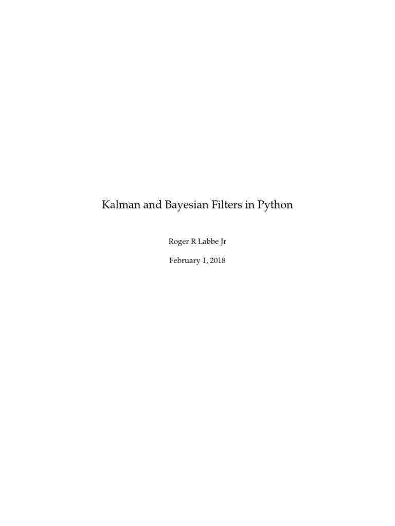 Kalman and Bayesian Filters in Python | Prediction