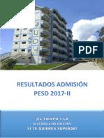 Resultados Admision Pesd 2017 2