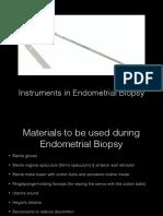 Instruments in Endometrial Biopsy