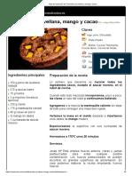 Hoja de Impresión de Financiers de Avellana, Mango y Cacao