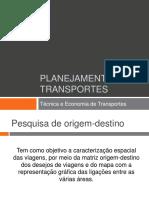 Aula 15 - Planejamento de Transportes
