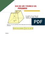 Volumen Del Tronco de Una Piramide