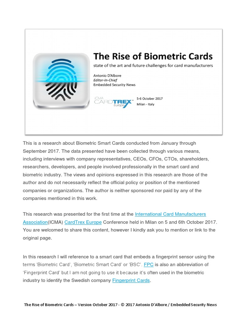 2017-10-the_rise_of_biometric_cards_with_comment pdf | Smart