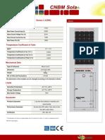 Características de panel solar.