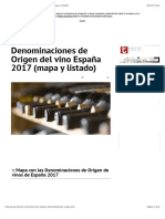 Denominaciones de Origen del vino España 2017 (mapa y listado)