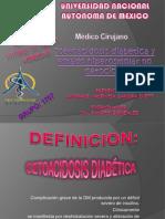 Cetoacidosis Diabetica y Estado Hiperosmolar Ppt Si