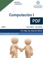 Computacion i 2016 Introduccion