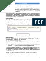 Funciones Con Cadenas de Caracteres en Php-sesion 5
