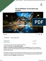 Cómo iniciar sesión en Windows 10 sin tener que ingresar una contraseña.pdf