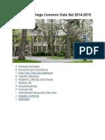 Wellesley Common Data Set 2014