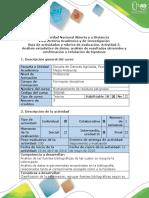 Guía de Actividades y Rúbrica de Evaluación - Actividad 5 - Análisis Estadístico de Datos y Confirmación o Refutación de Hipótesis