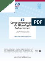 53º Curso Internacional de Hidrología Subterránea (2019)