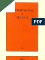 Antropología y técnica. v5