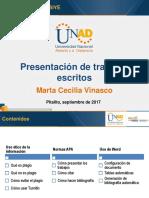 Presentacion de Trabajos Escritos - Septiembre 2017