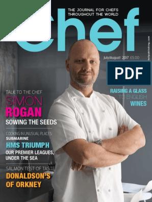 Chef Magazine July August Cookbooks Recipe